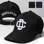 DSQUARED2 ディースクエアード BCM0352 05C00001 カラー2色 立体刺繍 コットン ベースボールキャップ 帽子 メンズ