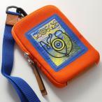 LOEWE ロエベ 101.50.V41 EYE LOEWE NATURE CASE キャンバス ネックポーチ ネックストラップ 携帯ケース iPhoneケース オレンジ メンズ