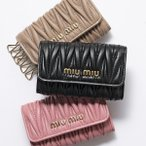 MIUMIU ミュウミュウ 5PG222 N88 MATELASSE カラー3色 マテラッセ レザー キーケース 6連 ロゴメタル レディース