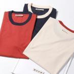 MARNI マルニ HUMU0151S0 UTCZ68 【3枚セット】 パックT クルーネック 半袖 Tシャツ カットソー コットン ちびロゴT 刺繍 Y4472 メンズ