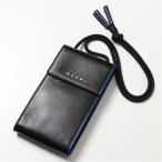MARNI マルニ スマホケース メンズ TEMI0009U0 P2644 レザー フォンケース バイカラー ネックポーチ iPhoneケース スマートフォン 携帯 Z452B