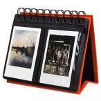 ポラロイドカメラ [Fujifilm Instax Mini Photo Album] Woodmin 68 Pockets Desk Calendar Album for Fuji Instant Mini 70 7s 8 25 50s 90, Polaroid Z2300,