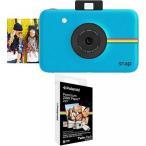 ポラロイドカメラ Polaroid Snap Instant Digital Camera (Blue) with Polaroid 2x3 inch Premium ZINK Photo Paper TWIN PACK (20 Sheets)