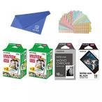 ポラロイドカメラ Fujifilm Instax Mini Instant Film 4-PACK SET , Twin Pack ( 20 x 2 ) + Monochrome ( 10 ) + Black Frame ( 10 ) + Original Cleaning