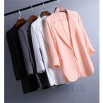 テーラードジャケット レディース シフォン 夏 通勤 薄手 ビジネス サマージャケット スーツジャケット フォーマル 入学式 卒業式 面接