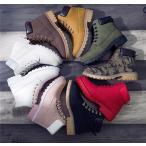 ブーツ レディース ワークブーツ マーティンブーツ ショートブーツ ペアルック 秋 冬 ローヒール シューズ 靴