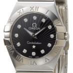 オメガ OMEGA 腕時計 123.10.24.60.51.001 レディース ブラック ダイヤモンド12P