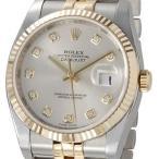 ロレックス ROLEX 116233 G-SV デイトジャスト シルバー ダイヤモンド10P メンズ 腕時計 ブランド