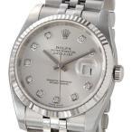 ロレックス ROLEX 116234 G デイトジャスト シルバー ダイヤモンド10P メンズ 腕時計