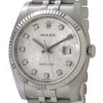 ロレックス ROLEX 116234 G-SVC デイトジャスト シルバー ダイヤモンド10P メンズ 腕時計