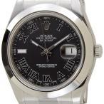 ロレックス ROLEX 116300 BK-R デイトジャストIIローマ ブラック メンズ 腕時計 ブランド