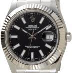ロレックス ROLEX 116334 BK デイジャスト ブラック メンズ 腕時計 ブランド 送料無料 新品