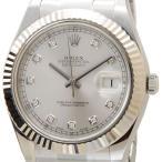 ロレックス ROLEX 116334 G デイジャスト2 デイトジャスト II ダイヤモンド10P シルバー メンズ ウォッチ ブランド 送料無料 新品
