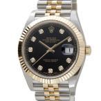 ロレックス Rolex デイトジャスト 126333 G-BK ダイヤモンド10P ゴールド×ブラック 新品