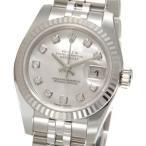 ロレックス ROLEX 179174 NG デイトジャスト ホワイトシェル ダイヤモンド10P レディース 腕時計 ブランド