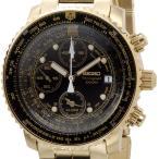 セイコー SEIKO SNA414P1 クロノグラフアラーム ブラック×ゴールド メンズ腕時計 セイコーウオッチ