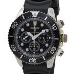 セイコー SEIKO ソーラー クロノグラフ ダイバーズ 腕時計 SSC021P1 ブラック ラバー メンズ クォーツ 電池交換不要