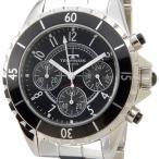 テクノス TECHNOS T3032TB クロノグラフ ステンレス×セラミック クォーツ ブラック メンズ腕時計 ブランド 送料無料 新品