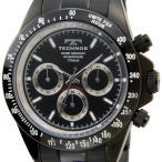 テクノス TECHNOS 腕時計 T4322BB オリジナルモデル フルチタン製 クロノグラフ 軽量92g ブラック メンズ ブランド 送料無料 新品