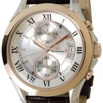 テクノス TECHNOS T4346PS クロノグラフ デイト 10気圧防水 ピンクゴールド メンズ 腕時計