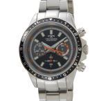 テクノス TECHNOS メンズ 腕時計 T4377SB クロノグラフ タキメーター ブラック