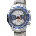 【決算特価】 テクノス TECHNOS メンズ 腕時計 T4377SN クロノグラフ タキメーター ブルー