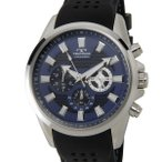 【決算特価】 テクノス TECHNOS T6396SN クロノグラフ 24時間計 10気圧防水 ラバーベルト ブルー メンズ 腕時計