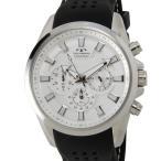 【決算特価】 テクノス TECHNOS T6396SS クロノグラフ 24時間計 10気圧防水 ラバーベルト シルバー メンズ 腕時計