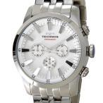 【決算特価】 テクノス TECHNOS メンズ 腕時計 T9440SW オールステンレス クロノグラフ ホワイト