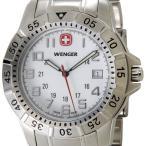 ウェンガー WENGER 72617 メンズ腕時計 マウンテイナー ホワイト/シルバー ミリタリー アウトドア ブランド ブランド 送料無料 新品