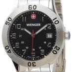 ウェンガー WENGER メンズ腕時計 フィールドグレネーダー 72966 ブラック/シルバー ミリタリー アウトドア ブランド ブランド 送料無料 新品
