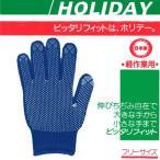 (ポスト投函)【送料無料】No.800 ホリデーカラー すべり止め手袋 1双