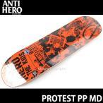アンタイヒーロー プロテスト PP 【ANTIHERO Protest PP】 スケートボード デッキ ストリート SKATEBOARD DECK カラー:ORANGE サイズ:MD(8.06 X 32)