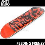 アンタイヒーロー フィーディング フリンジー 【ANTIHERO FEEDING FRENZY】 スケート デッキ ストリート パーク 初心者 プロ カラー:ORN/BLK サイズ:8.06 x 32