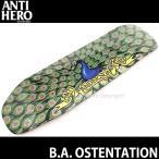 アンタイヒーロー ブライアン アンダーソン アステンテイシャン 【ANTIHERO B.A. OSTENTATION】 スケートボード デッキ 板 size:9.25x32.25