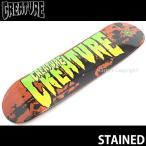 クリーチャー ステイン CREATURE STAINED スケートボード デッキ 板 ストリート 初心者 キッズ 子供 カラー:Orange サイズ:7.40 x 27.6