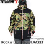 20 テックナイン ジャケット TECHNINE ROCKWILDER DOWN JACKET スノーボード スノボー ウェア メンズ デザイン SNOWBOARD カラー:Camo