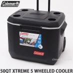 コールマン 50QT エクストリーム 5 ウィール クーラー クーラーボックス COLEMAN 50QT XTREME 5 WHEELED COOLER アウトドア キャンプ カラー:BLK/GRY 3000005145