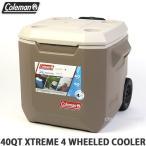 コールマン ウィール クーラーボックス COLEMAN 40QT XTREME 4 WHEELED COOLER アウトドア キャンプ フェス BBQ カラー:TAN サイズ:40QT