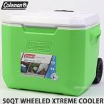 コールマン ウィール エクストリーム クーラーボックス COLEMAN 50QT WHEELED XTREME COOLER タイヤ アウトドア Col:Lime size:50QT