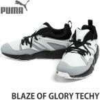プーマ ブレイズ オブ グローリー テック 【PUMA BLAZE OF GLORY TECHY】 スニーカー シューズ 靴 メンズ 名作 復刻 定番 ハイテク レトロ カラー:Puma Black