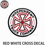 インディペンデント レッド ホワイト クロス ディケール 【INDEPENDENT RED WHITE CROSS DECAL】 スケートボード ロゴ ステッカー ジムフィリップス 直径::7.5cm