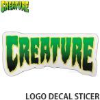 クリーチャー ロゴ ディケール 【CREATURE LOGO DECAL】 スケートボード ステッカー チューン デッキ ハードコア サイズ:10.4cmx5cm