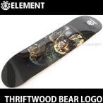 エレメント スリフトウッド ベアー ロゴ 【ELEMENT THRIFTWOOD BEAR LOGO】 デッキ スケートボード 板 国内正規品 ストリート 高品質 サイズ:7.875x32