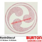 BURTON バートン 【Ronin Diecut Sticker】RONINのステッカー!お好きな場所にどうぞ!