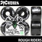ボーンズ ラフ ライダーズ BONES ROUGH RIDERS 60B 80A スケートボード ソフト ウィール SKATEBOARD SOFT WHEELS Aグレードウレタン ATF カラー:Black