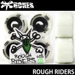 ボーンズ ラフ ライダーズ 【BONES ROUGH RIDERS】 60B 80A スケートボード ソフト ウィール SKATEBOARD SOFT WHEELS Aグレードウレタン ATF カラー:White