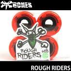 ボーンズ ラフ ライダーズ 【BONES ROUGH RIDERS】 スケートボード スケボー ソフト ウィール クルージング SKATEBOARD SOFT WHEEL Aグレード ATF カラー:Red