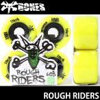 ボーンズ ラフ ライダーズ 【BONES ROUGH RIDERS】 60B 80A スケートボード ソフト ウィール SKATEBOARD SOFT WHEELS Aグレードウレタン ATF カラー:Yellow
