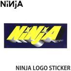 ニンジャ ロゴ ステッカー NINJA LOGO STICKER スケートボード デッキ チューン ブランド SKATEBOARD シール カラー:NAVY サイズ:12.8×5.0